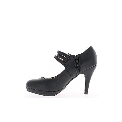 CFP - Zapatillas de danza mujer , color Negro, talla 37,5 EU(6 cm)