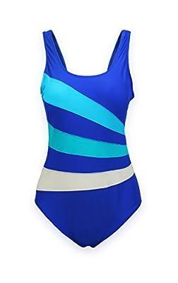 ReliBeauty Women's Lined U-Neck One Piece Bathing Suit Swimsuits
