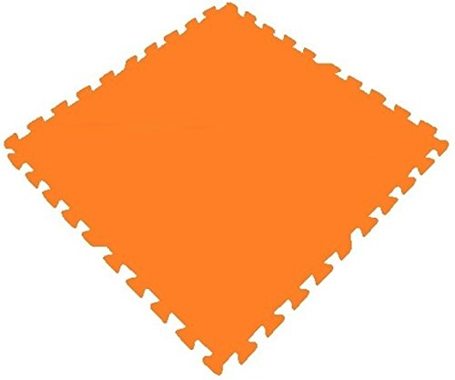 Get Rung Fitness Mat with Interlocking Foam Tiles for Gym Puzzle Flooring. Excellent for Child Care, Day Care, Garages, Workshops, home gyms, anti fatigue cushion safety flooring. Perfect Exercise Mat(ORANGE, 24SQFT)