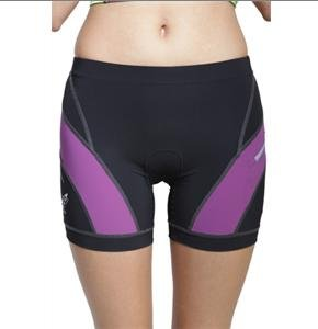 Rocket Science Mujeres Elite Shorts (Violeta / Negro, Grande)