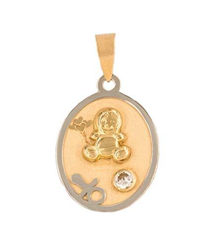 mitad de descuento b0ded 52194 PRIORITY Medalla de Oro 18K Bebé Colgante de Oro, Colgante ...