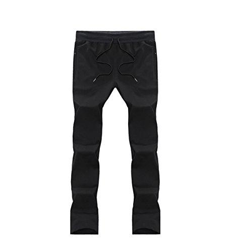 Corso Diritto Coulisse Pantalone Fondo Exlarge Ginnastica Casual Sportivi Uomo Pantaloni Lachi Nero Tuta Sport Vita 4qpxCR