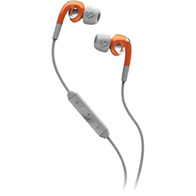 Skullcandy Fix with Mic3 Earphones/Earbuds Premium Headphone - Athletic Orange/Grey / One Size