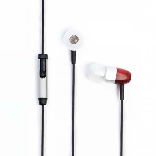 Cheap Thinksound ts02+mic 8mm Noise Isolating Wooden Headphone with Universal 1 Button Microphone (Silver/Cherry)