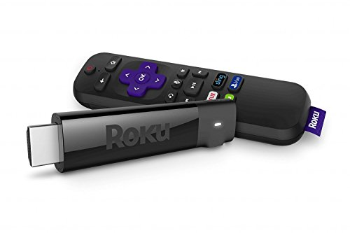 Roku Streaming Stick+ | 4K/HDR/HD Streaming Player with 4X The Wireless Range & Voice Remote with TV Power and Volume (2017) (Renewed)