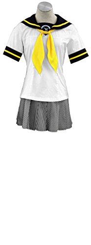 Chie Cosplay Costume (Mtxc Women's Shin Megami Tensei: Persona 4 Cosplay Summer Uniform L White)