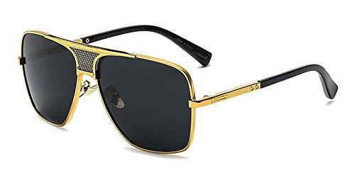 Libre Hombres Aire Metálico del Protección Marco la calidad de Vendimia BOZEVON Alta Gafas UV400 sol de Estilo la 02 al de twqIpyX