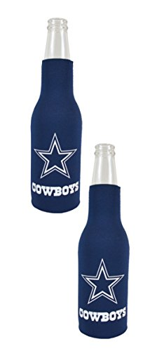 Official National Football League Fan Shop Authentic NFL 2-Pack Insulated Bottle Cooler (Dallas - Nfl Beer Hat
