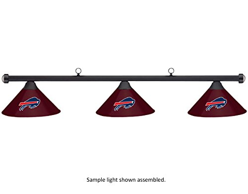 NFL Buffalo Bills Burgundy Metal Shade & Black Bar Billiard Pool Table Light