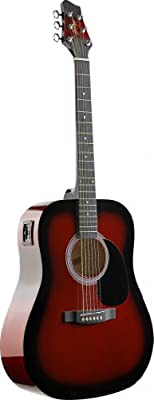 Stagg Electro-Acoustic Dreadnought Guitar - Black