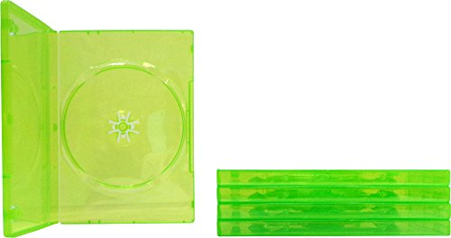 (5) Empty Standard XBOX 360 Translucent Green Replacement Games Boxes/Cases - Paper 360 Xbox