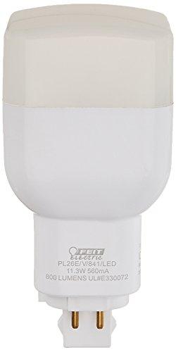 Feit Electric PL26E/V/841/LED LED PL Vertical Recessed, 800 lm, 26W Equivalent, GX24Q Base, 4100k (26w Compact Plug Fluorescent)