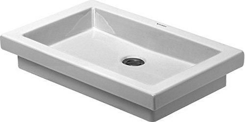 Duravit 03175800291 2nd Floor Countertop Vanity Basin, White Finish Ceramic Drop In Range