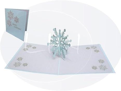 Fiocchi Di Neve Di Carta 3d : Lin pop up 3d biglietto di auguri per natale fiocco di neve #431