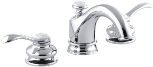 Kohler Fairfax Widespread Lavatory Faucet (KOHLER K-12265-4-CP Fairfax Widespread Lavatory Faucet, Polished Chrome Color: Polished Chrome, Model: 12265-4-CP, Hardware)