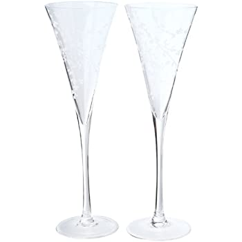 4a695a35585 Kate Spade New York Women's Gardner Street Toasting Flute Pair Clear  Glassware