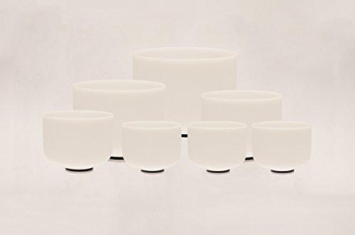 TOPFUND Singing Bowls Chakra Tuned Set of 7 Crystal Singing Bowls 8-12 inch