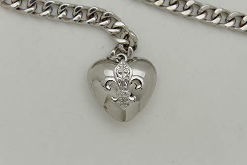 Women Hip Waist Silver Metal Chain Fashion Belt Love Heart Buckle Charm XS S M by RIX Fashion Luxury (Image #8)'