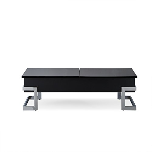 ACME Furniture Calnan Lift Coffee Table, One Black Chrome
