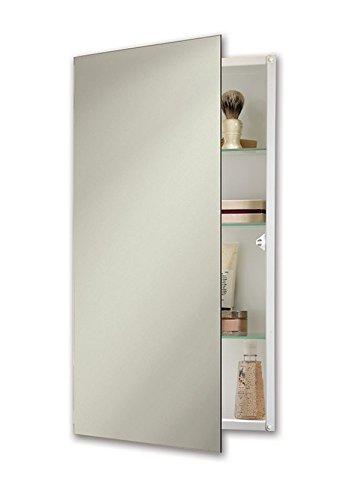 Jensen 869P34WHGX Polished Edge Mirror Medicine Cabinet, 15