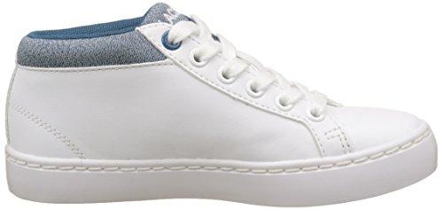 Lacoste Straightset Chukka 317 1, Entrenadores Altas Unisex Niños Blanco (Wht/blu)