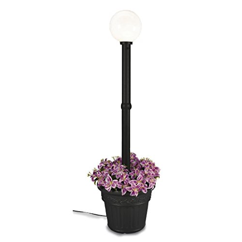 Milano 68100 Black With White Globe Planter Lamp, 80-inch