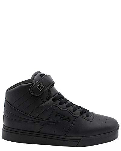 Fila Vulc 13 MP Mens Solid Black Athletic Sneaker Shoes (8, Black/Black/Black)