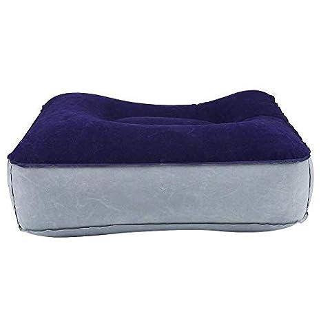reposapiés - Cojín Almohada Inflable de Resto de Pie para Oficina Casa Vieje Relajarse (Color : Gray+Blue)