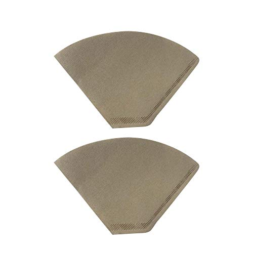Cone Filter Paper Natural - Think Crucial 200 Replacements for Unbleached Natural Brown Paper #4 Coffee Disposable Cone Filters, Fits All Coffee Makers With #4 Filters including Melitta, Great for Homemade Coffee