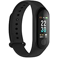 Plateforce M3 Smart Wristband Fitness Tracker Band Long Standby Time Sports Multifunction Watch Compatible with All Android Phone and iOS Mobile (Black)