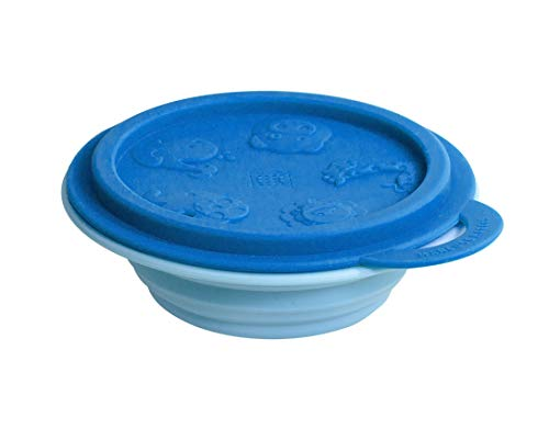 Tigela Em Silicone Hipopotamo, Marcus E Marcus, Azul, Pequeno