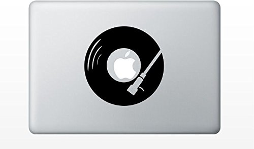 Macbook dj turntable decal sticker pro air 11 13 15 17 (17 Inch Turntable)