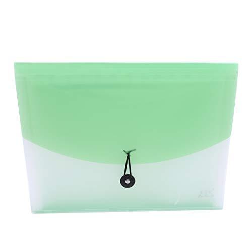 lehao397 Portable Organ Bag Folders Large Capacity Document Bag Expanding A4 File Folder Organizer Office Supplies,Green