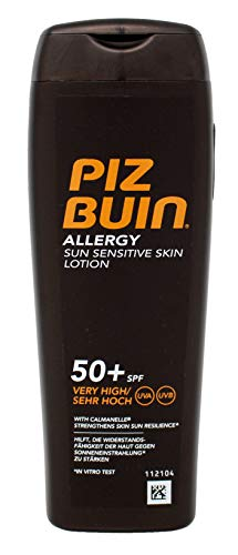 PIZ BUIN Allergy Lotion for Sun Sensitive Skin SPF50+ - 200ml / 6.8 oz. (Best Sun Protection For Sensitive Skin)