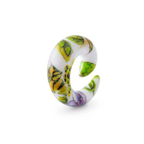 (8MM Colorful UV Fancy Flower Spiral Taper Ear Piercing Body)