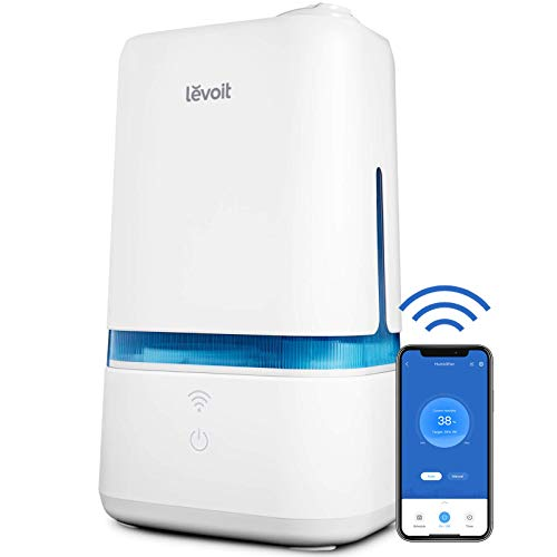 LEVOIT Humidifiers for Bedroom, Smart Wi-Fi Cool Mist Essential Oils Diffuser in one, 4L Ultrasonic Air Vaporizer for…