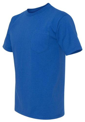 Bayside Union Made in the USA Short Sleeve Pocket T-Shirt 3015 2XL Royal Blue ()