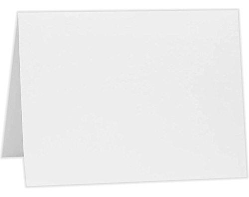 A6 Folded Card (4 5/8 x 6 1/4) - 80lb. Bright White (50Qty) | Perfect for Personal Stationery, Invitation Suite Inserts, Casual Correspondence and much more! | A6FW-50