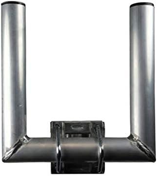 SkyRevolt Duo-Wand-Halter 25cm Rohr 35mm Doppel-Mastausleger zweifacher SAT Mast Ausleger U-Halter f/ür Au/ßen Antenne Aluminium