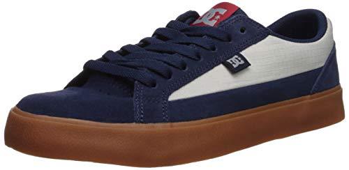 DC Men's LYNNFIELD Skate Shoe, Navy/Grey, 14 D M US