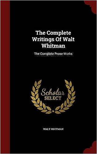 walt whitman works