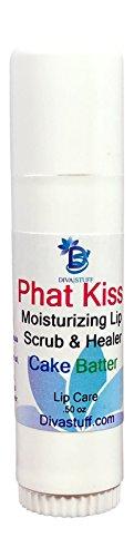 Phat Kiss Cake Batter Flavor Stick Style Lip Scrub, Nourishing, Exfoliating, Healing and Amazing, By Diva Stuff