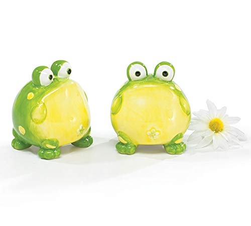 DAPRIL BURTON-664332 Toby The Toad Frog Salt And Pepper Shakers For Kit, One Size, Green