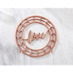 Kate Aspen Geometric Copper Love Cake Topper