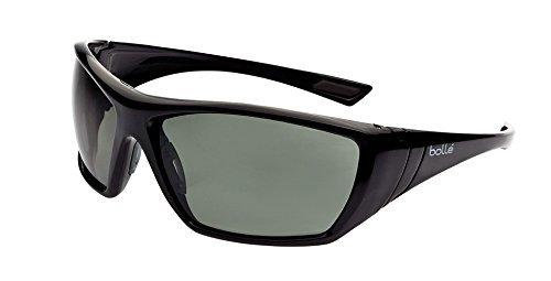 Bolle Safety Hustler Safety Glasses, Shiny nero Frame, grigio Lenses by Bolle 'Safety