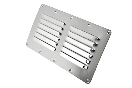 (Marine City Stainless-Steel 9-1/8 Inches × 5 Inches Rectangle Stamped Louvered Vent (1)