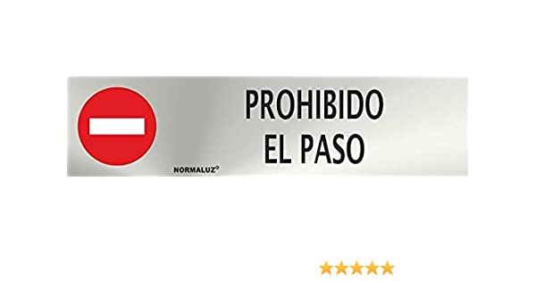 Se/ñal de acero inoxidable OFICINAS 200X50mm se/ñal informativa MovilCom/® ref.RD707042