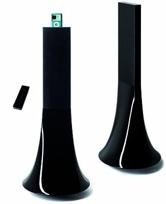 Parrot Design PF550030AA Zikmu Wireless Hi-Fi Speakers by Philippe Starck (Classic Black, Pair)