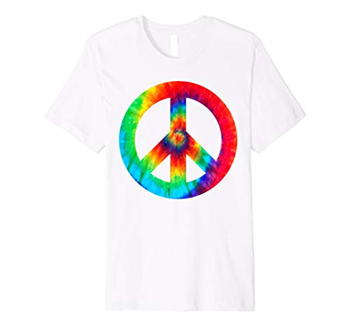 Girls Peace Sign - Cool Peace Sign Tie Dye T-Shirt For Boys And Girls