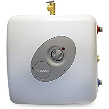 Bosch Electric Mini-Tank Water Heater Tronic 3000 T 7-Gallon (ES8)- Eliminate Time for Hot Water - Shelf, Wall or Floor Mounted
